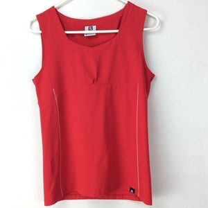 Red Salomon sleeveless top